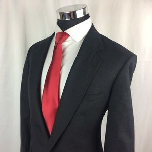 Jos A Bank Mens 42L Blazer Wool Charcoal 2 Button